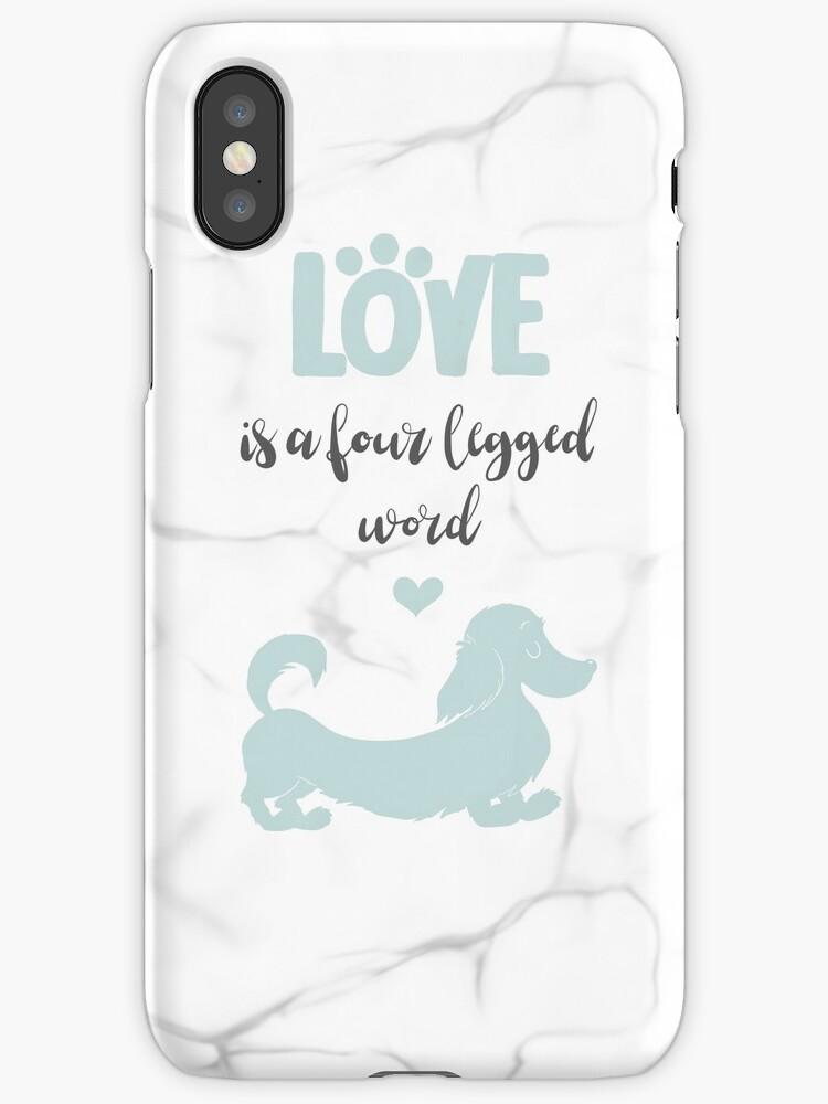 Mint & Marble 'Love is a Four Legged Word' Long Hair Dachshund by LaurasLovelies