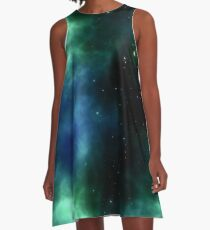 Outer Space Cosmic Galaxy A-Line Dress