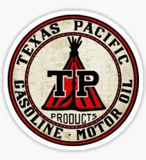 Texas Pacific Gasoline Sticker