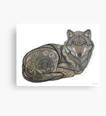 Nordischer Wolf Metalldruck