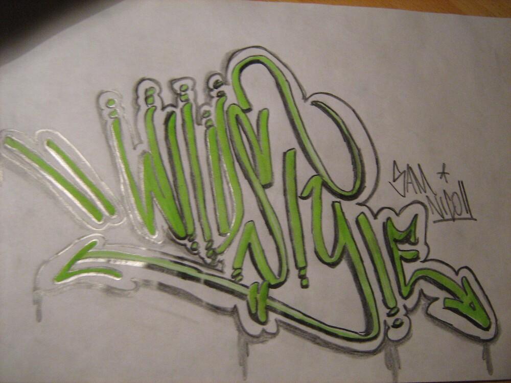 graffiti piece   (wildstyle) by samgraffiti