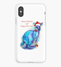 Christmas 'Kandy' Kangaroo iPhone Case/Skin