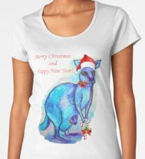 Christmas 'Kandy' Kangaroo Women's Premium T-Shirt