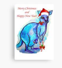 Christmas 'Kandy' Kangaroo Canvas Print