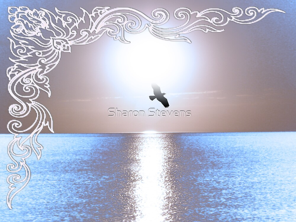 Silver Sunset Card by Sharon Stevens