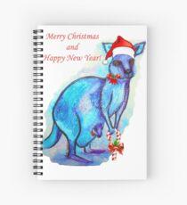 Christmas 'Kandy' Kangaroo Spiral Notebook