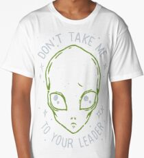 The Flash (Cisco's shirt) - Don't Take Me To Your Leader Long T-Shirt