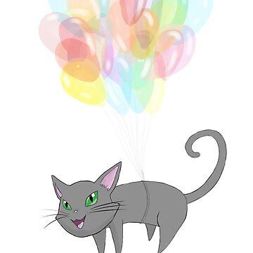 Balloon Kitty, by violenturge89