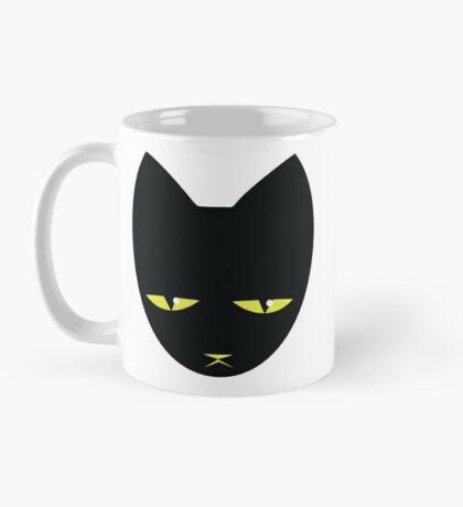 Unimpressed cat! angry black cat cross Mug