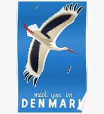 1939 Meet You In Denmark Travel Poster Poster