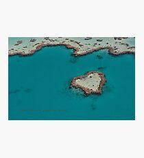 Heart Reef © Vicki Ferrari Photographic Print