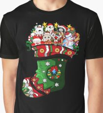 Cat, Reindeer, Dog, Pet in Sock Christmas Gift Graphic T-Shirt