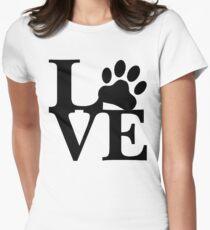 Camiseta entallada para mujer LOVE DOG PAW