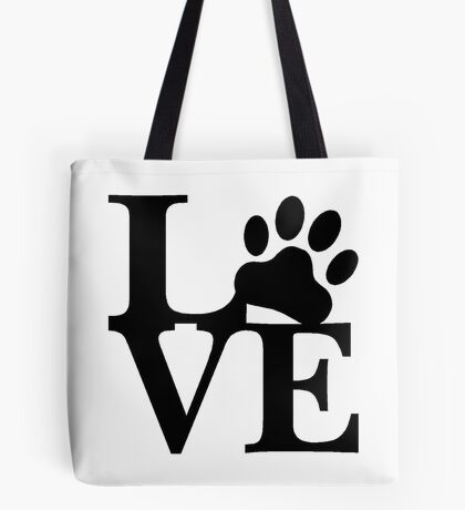 LOVE DOG PAW Tote Bag