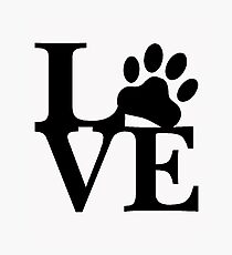 LOVE DOG PAW Photographic Print
