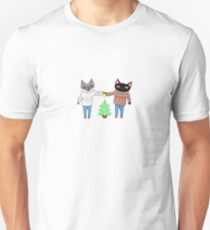 Cats in Ugly Christmas Sweaters Unisex T-Shirt
