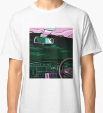 Vaporwave Aesthetic 80s Neon Night Driving T-Shirt Classic T-Shirt