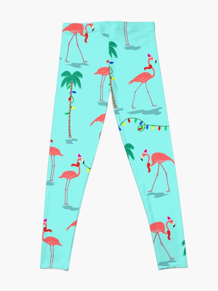 Alternate view of Christmas Flamingos Pattern Leggings