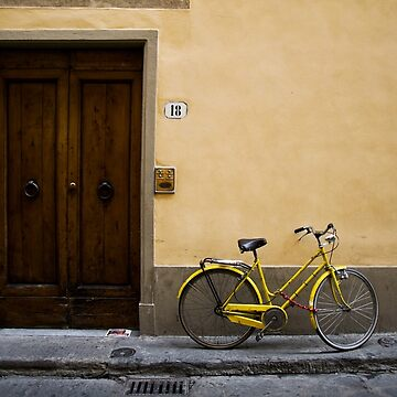Bicycle yellow by AndreGascoigne