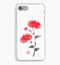 Royal pair sumi-e painting iPhone Case/Skin