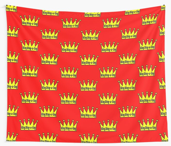 king ding a ling wall tapestries by tommytidalwave redbubble