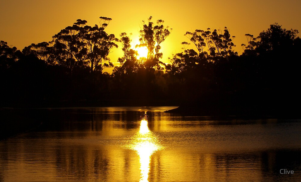 Gold across the water by Clive