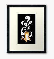 Tabby Cat Playing with Ghosts Framed Print