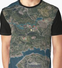 Player's Unknown Battleground (PUBG Map) Graphic T-Shirt