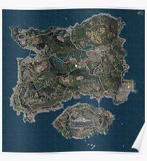 Player's Unknown Battleground (PUBG Map) Poster