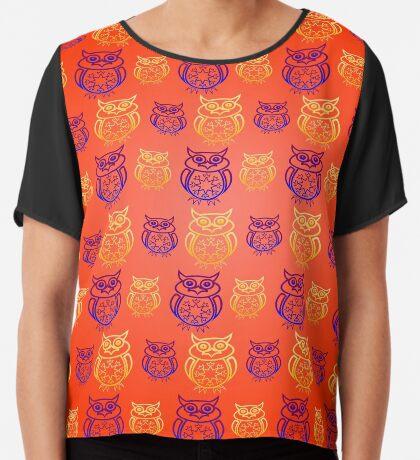 Owl Nation Women's Chiffon Top