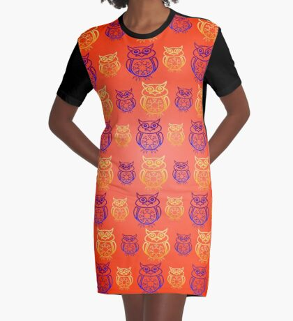 Owl Nation Graphic T-Shirt Dress