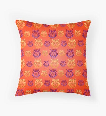Owl Nation Throw Pillow
