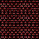 Rote Kronen auf schwarzem Muster von Irisangel