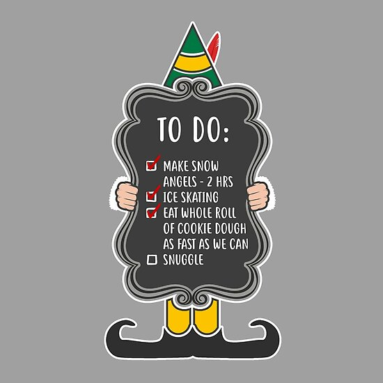 elf to do list posters by ninthstreet redbubble