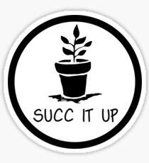 succ it up succulent design Sticker