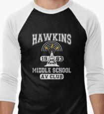 HAWKINS MIDDLE SCHOOL 1983 Men's Baseball ¾ T-Shirt