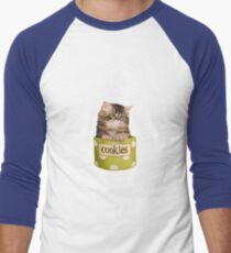 Funny Kitten Men's Baseball ¾ T-Shirt