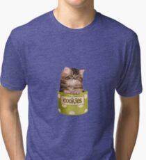 Funny Kitten Tri-blend T-Shirt