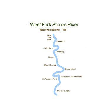 West Fork Stones River Map by skegeebeast
