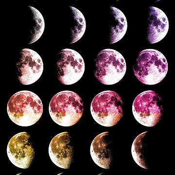 Colourful Moon Phases by lifeasawriter
