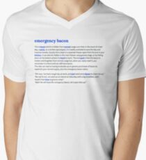 Definition - Emergency Bacon Men's V-Neck T-Shirt