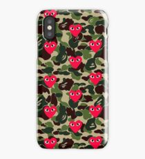 Bape comme des garcons red Play Collage iPhone Case/Skin
