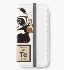 Chemie Panda entdeckt süß iPhone Flip-Case/Hülle/Klebefolie