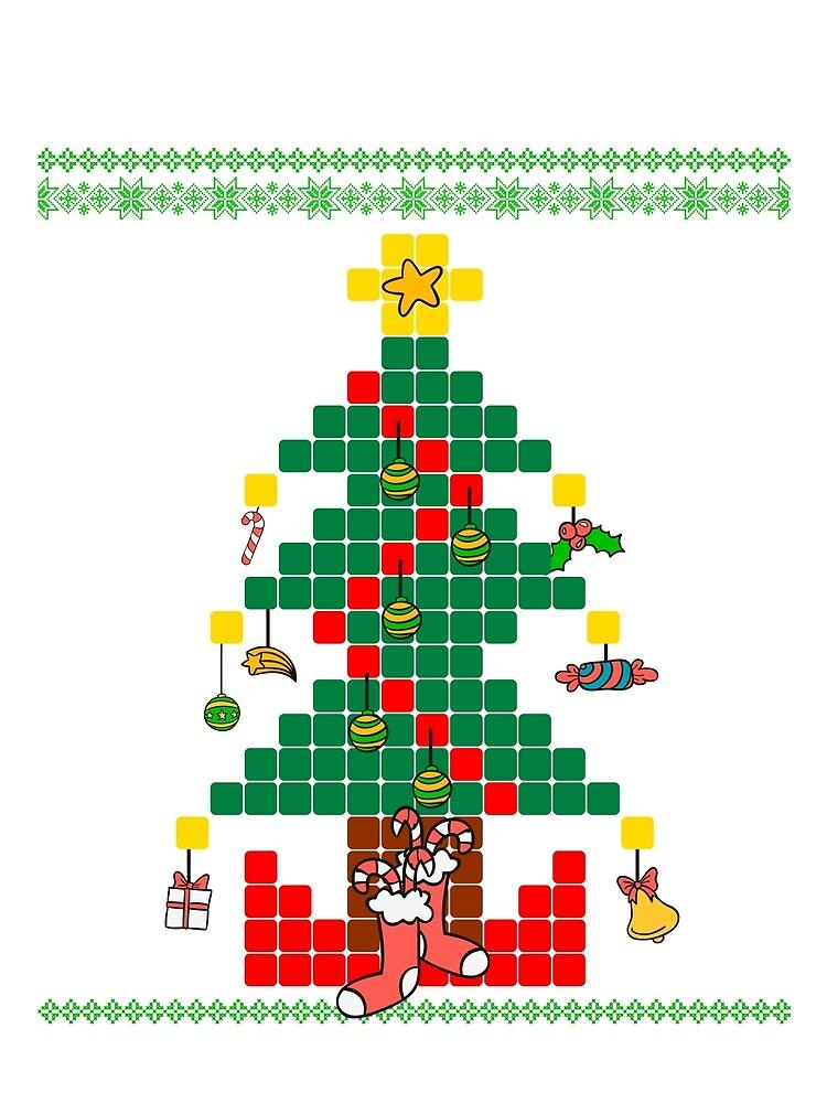 Ugly Sweater Cute Xmas christmas tree by bestdesign4u