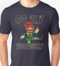 "funny Christmas Elf ""Go Elf yourself""  Slim Fit T-Shirt"