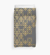 Geometric Gold Duvet Cover