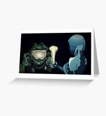 MasterChief & Cortana Greeting Card