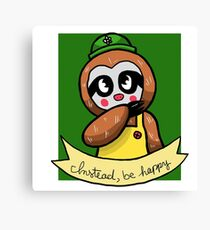 Instead, Be Happy Canvas Print