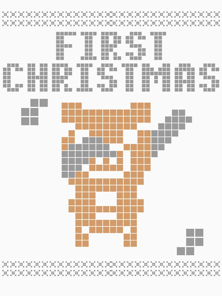 Cute Xmas pig pixel dabbing first christmas by bestdesign4u