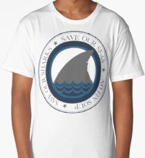 save our sharks Long T-Shirt